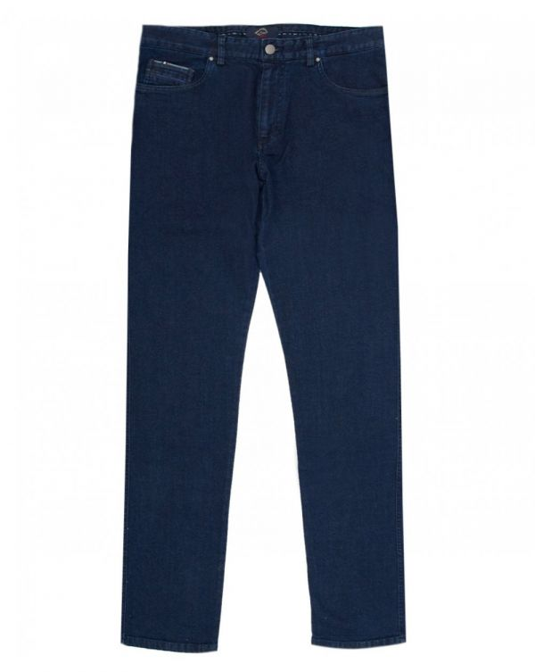 Straight Fit Patch Pocket Jeans