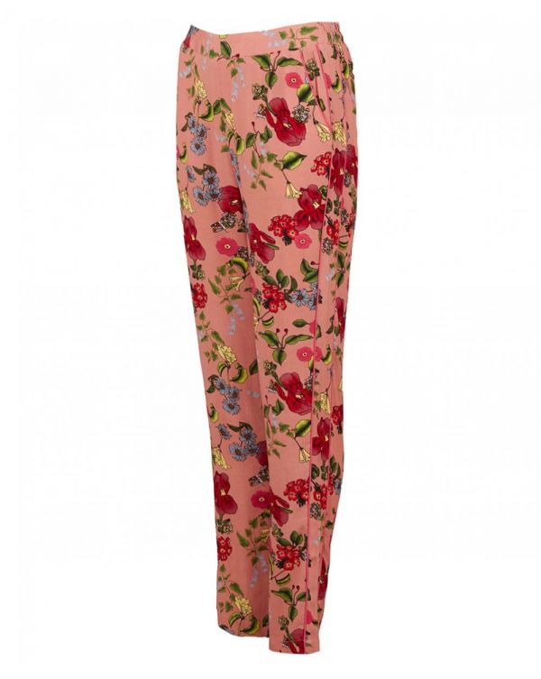 Rose Print Lightweight Trousers