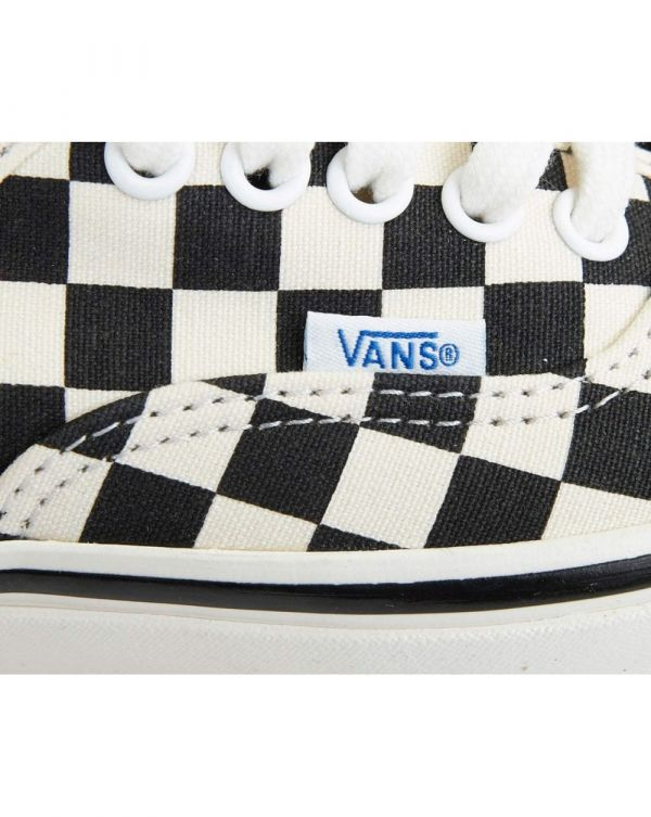 Authentic 44dx Canvas Check Trainers