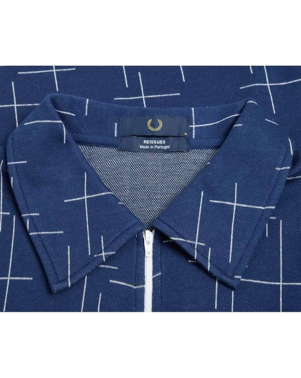 Crosshatch Half Zip Polo