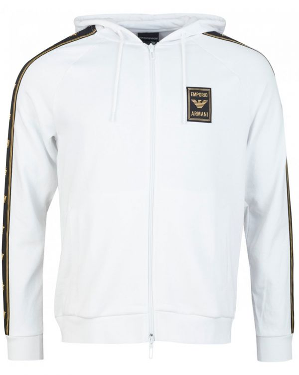 Eagle Taped Zip Through Hooded Top