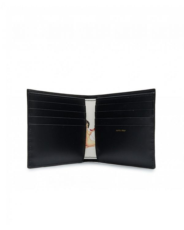 Naked Lady Leather Billfold Wallet