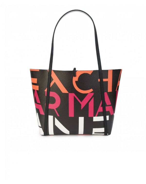 All Over Big Logo Open Tote Bag
