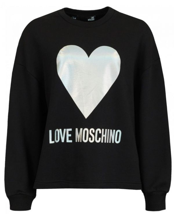 Metallic Large Heart Logo Sweat
