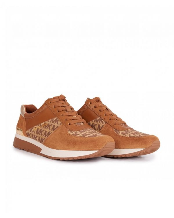 Allie Mk Logo Lace Up Trainers