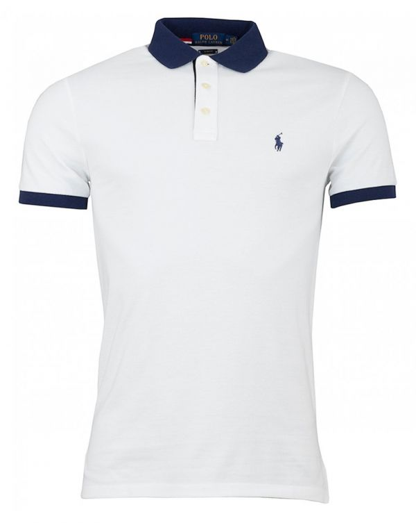 Custom Slim Contrast Collar Polo Shirt