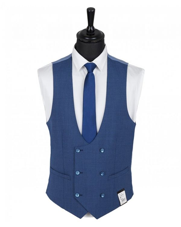 Puppytooth Check Double Cuff Waistcoat