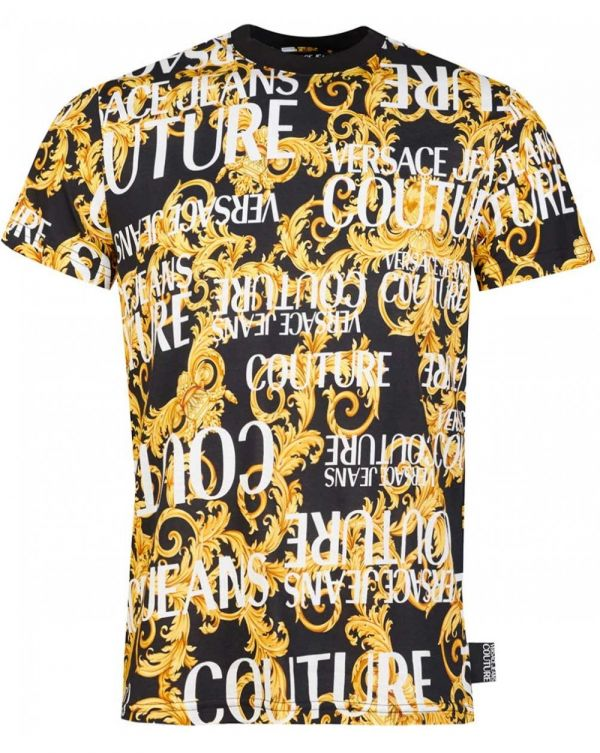 All Over Script Baroque Slim Fit T-shirt