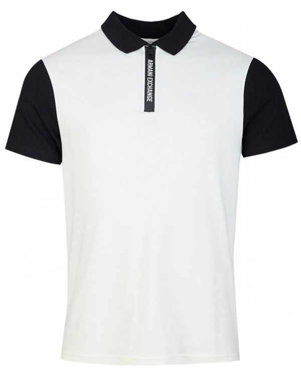 Taped Zip Neck Polo Shirt