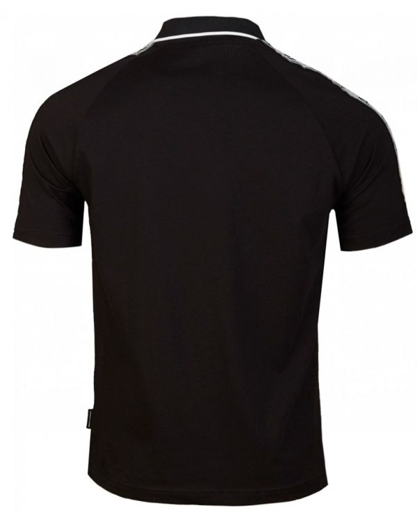 Taped Shoulder Zip Neck Polo Shirt