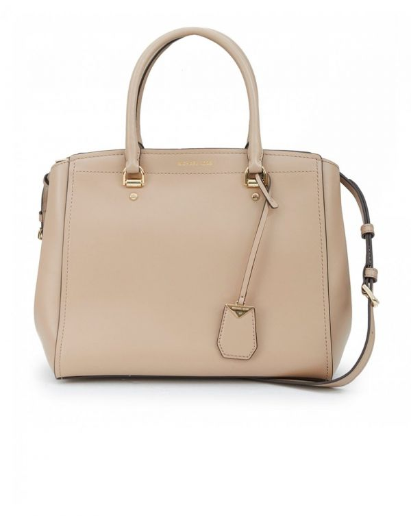 Benning Polished Leather Large Satchel