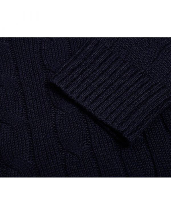 Crew Neck Cable Knit