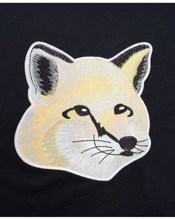 Embroidered Pastel Fox Head T-shirt