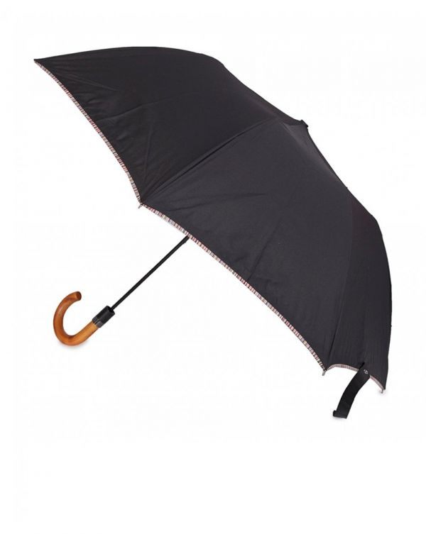 Signature Stripe Crook Handle Umbrella