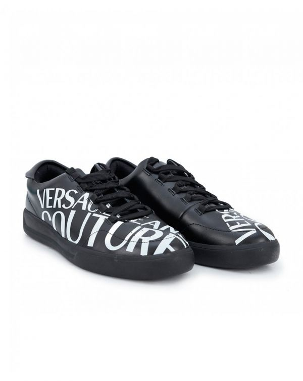 Courture Script Leather Trainers