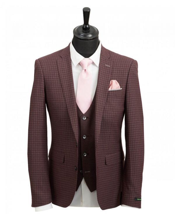 Three Piece Contrast Mixer Suit