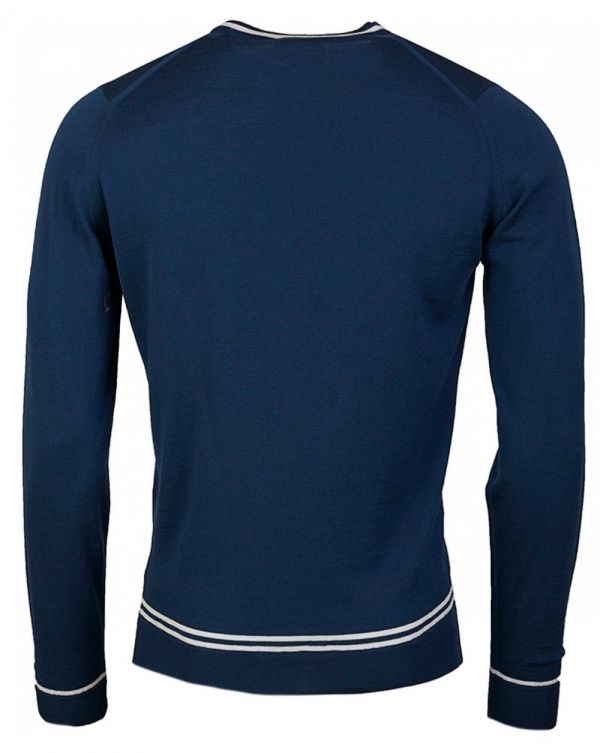 Turnbull Merino Tipped Collar Jumper