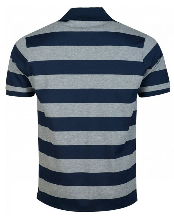 Two Colour Striped Short Sleeved Polo