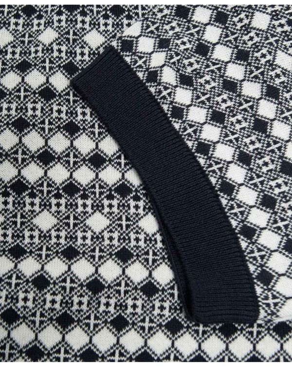 Geo Knitted Polo Shirt