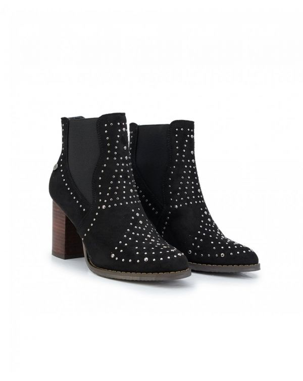 Stud Detail Block Heel Ankle Boots