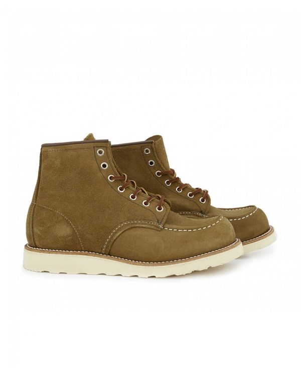 6 Inch Classic Moc Toe Suede Boots
