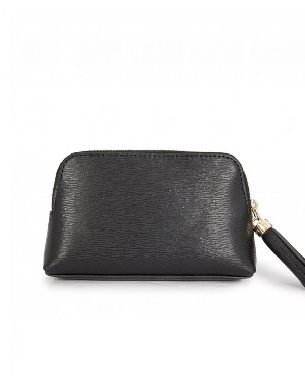 Textured Leather Dome Purse