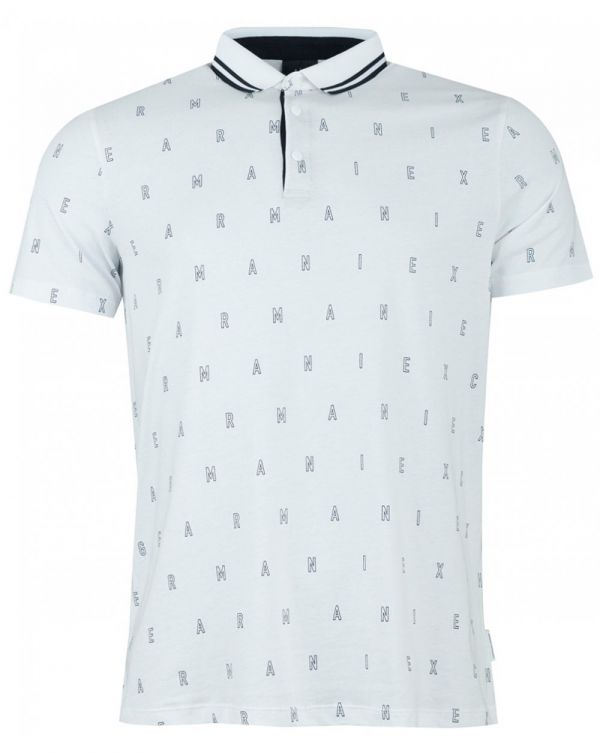 All Over Letter Polo Shirt