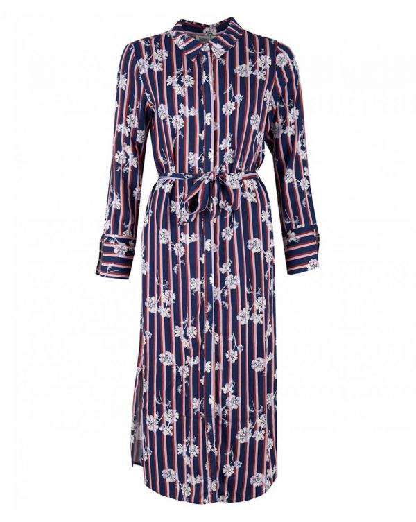 Flower Stripe Maxi Dress