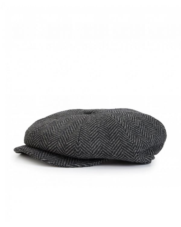 Herringbone Baker Boy Hat
