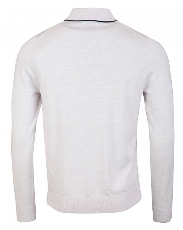 Merino Long Sleeved Knitted Polo Shirt
