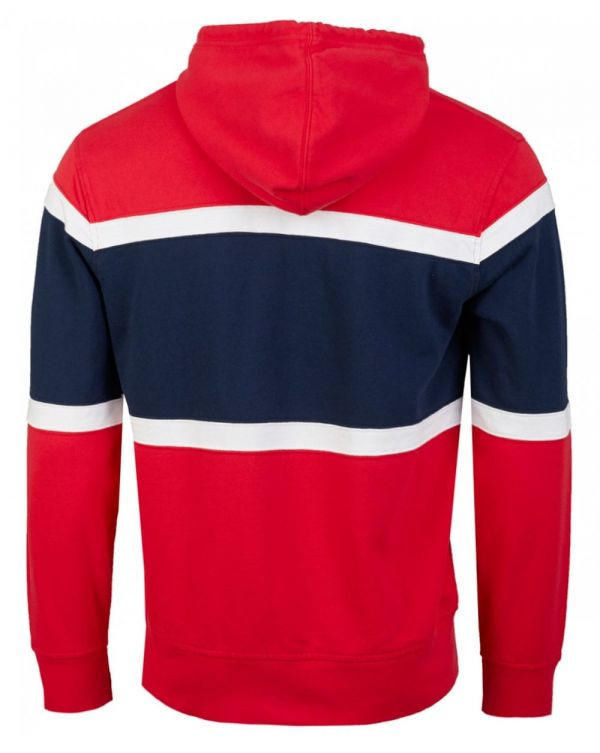 Pieced Colour Block Pullover Hoodie