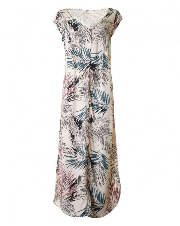 Palm Print Long Dress