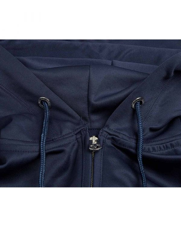 Taped Detail Poly Hooded Tracksuit Top