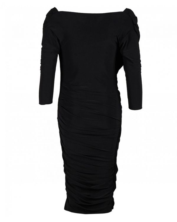 Cowl Ruched Bodycon Dress