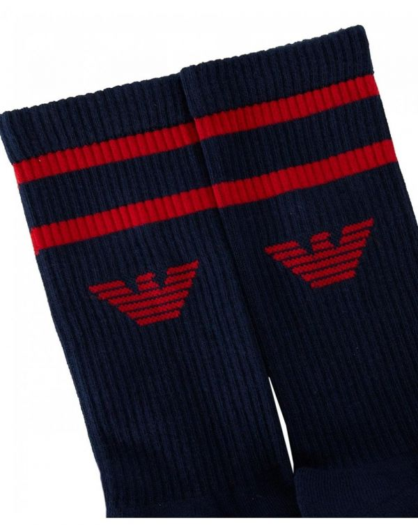 2 Pack Ribbed Sports Socks