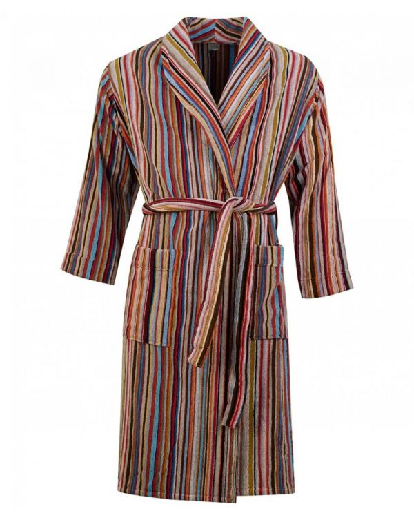 Multi Stripe Dressing Gown