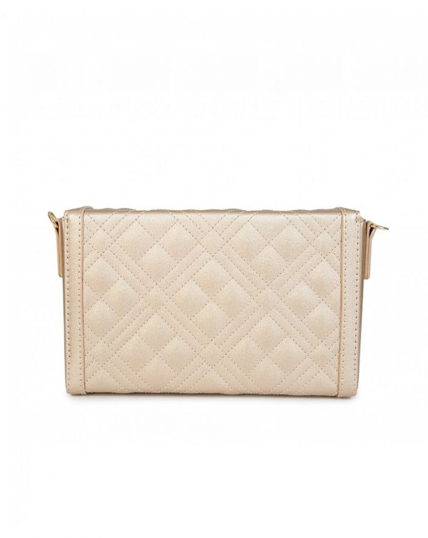 Quilted Logo Clutch Bag