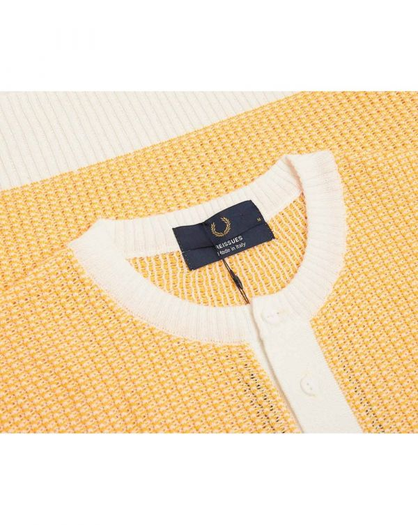 Two Colour Texture Knit T-shirt