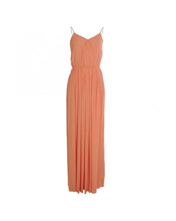 Shoestring Strap Classic Maxi Dress