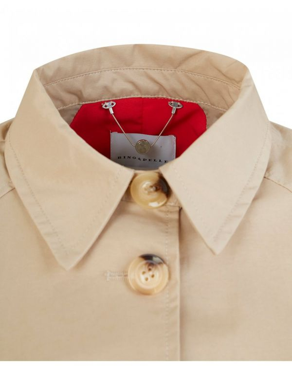 Belted Contrast Cuff Trench Coat