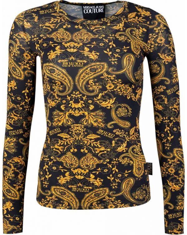 Long Sleeved Paisley Print Top