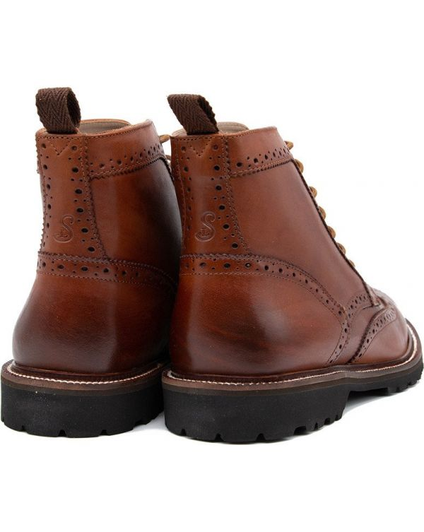 Milbrook Leather Brogue Boots