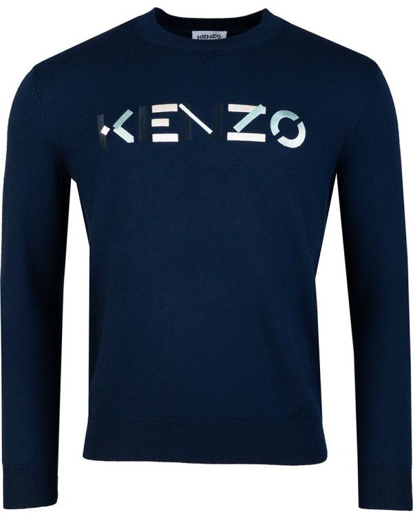 Embroidered Chest Logo Crew Neck Knit