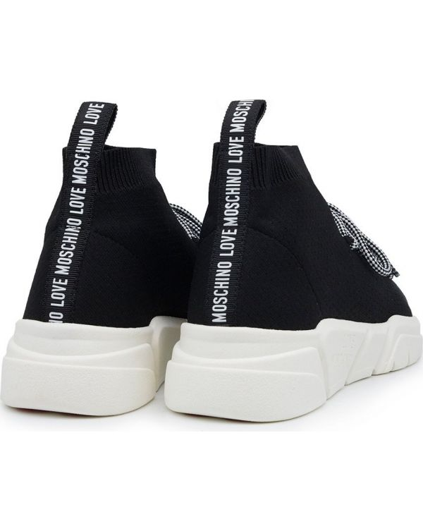 Logo Lace Up Sock Trainers