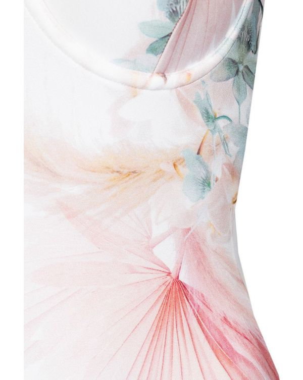 Floral Cupped Panel Swimsuit