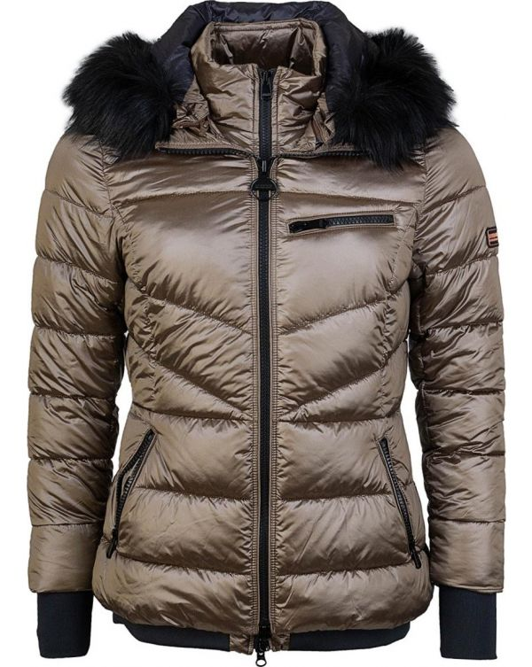 Strike Faux Fur Hooded Quilted Jacket
