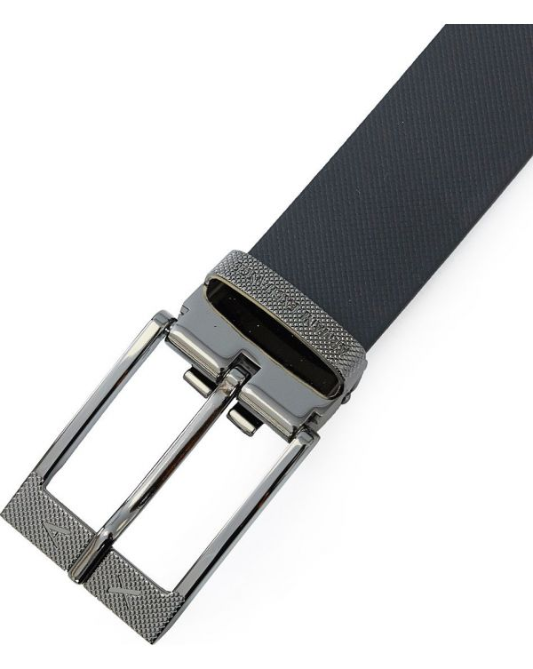 Ax Buckle Detail Leather Belt