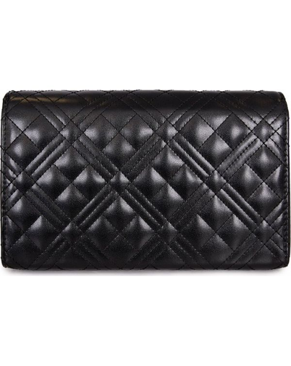 Logo Quilted Clutch Bag