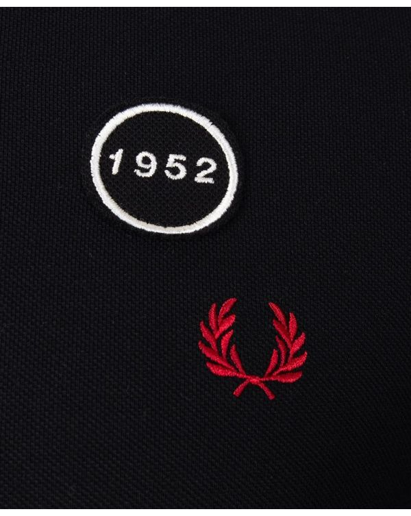 Graphic Applique Polo Shirt