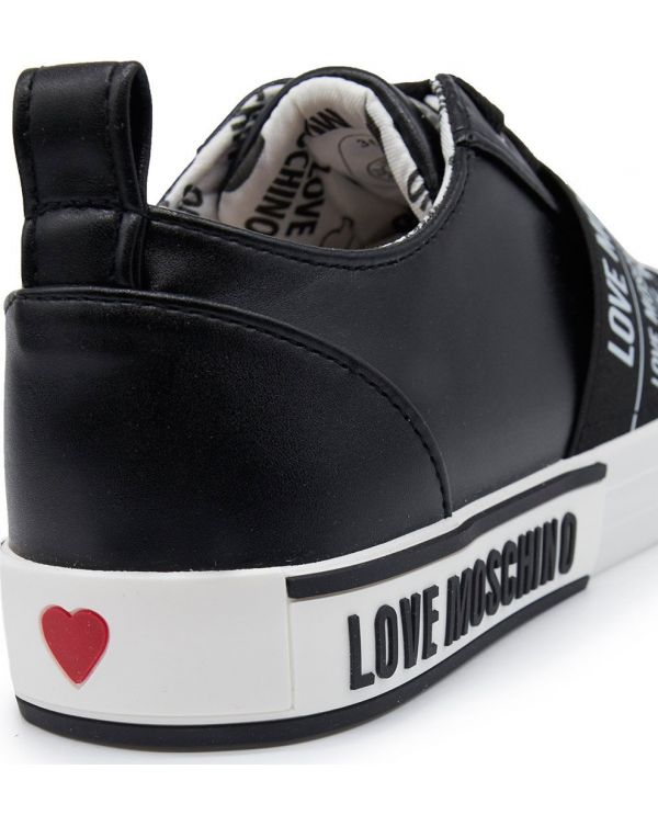 Cross Over Logo Lace Up Trainers